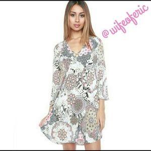 Dresses & Skirts - Cross My Heart Silky Floral Swing Dress